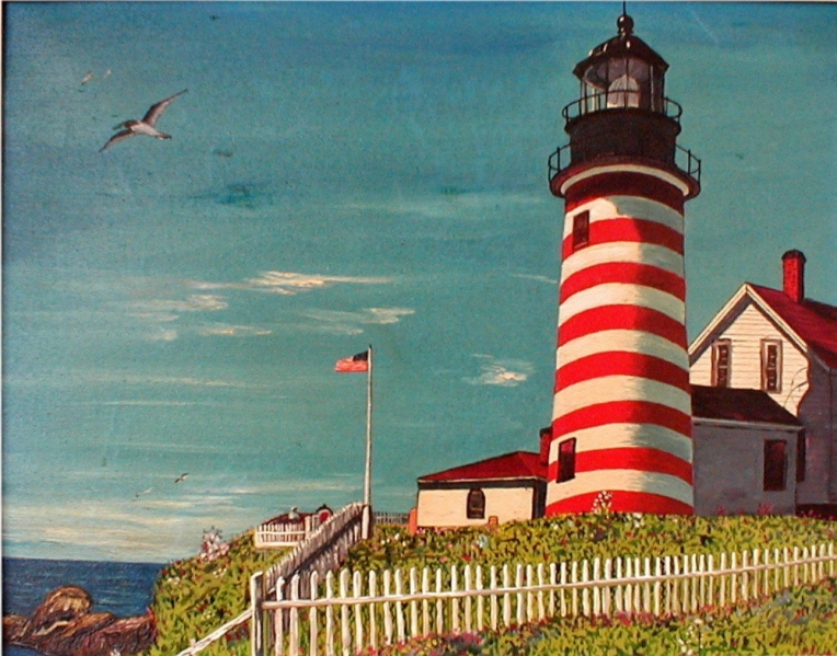 James J McKeever Paintings Lighthouses